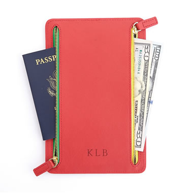 The Organized Traveler's Compartmented Monogrammed Wallet
