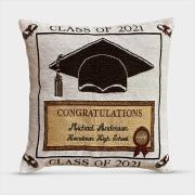 http://www.hammacher.com - The Graduate's Woven Pillow (2021) 39.95 USD
