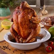 http://www.hammacher.com - The Glazed Vertical Chicken Roaster 74.95 USD