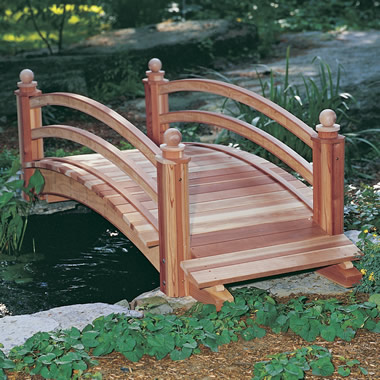 The Arched 4-Foot Landscaping Bridge.