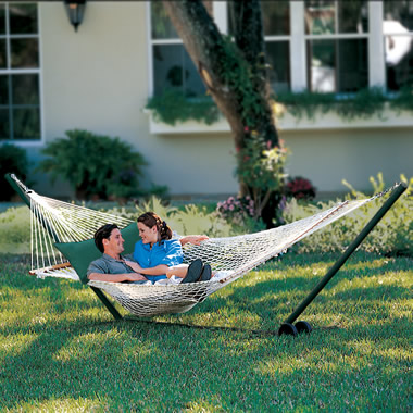 The Pawleys Island Oversized Rope Hammock
