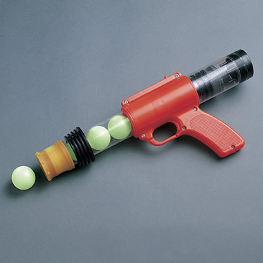 The Burp Pistol with Seven Glow in the Dark Balls.