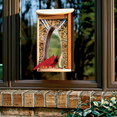 The Casement Window Bird Feeder.