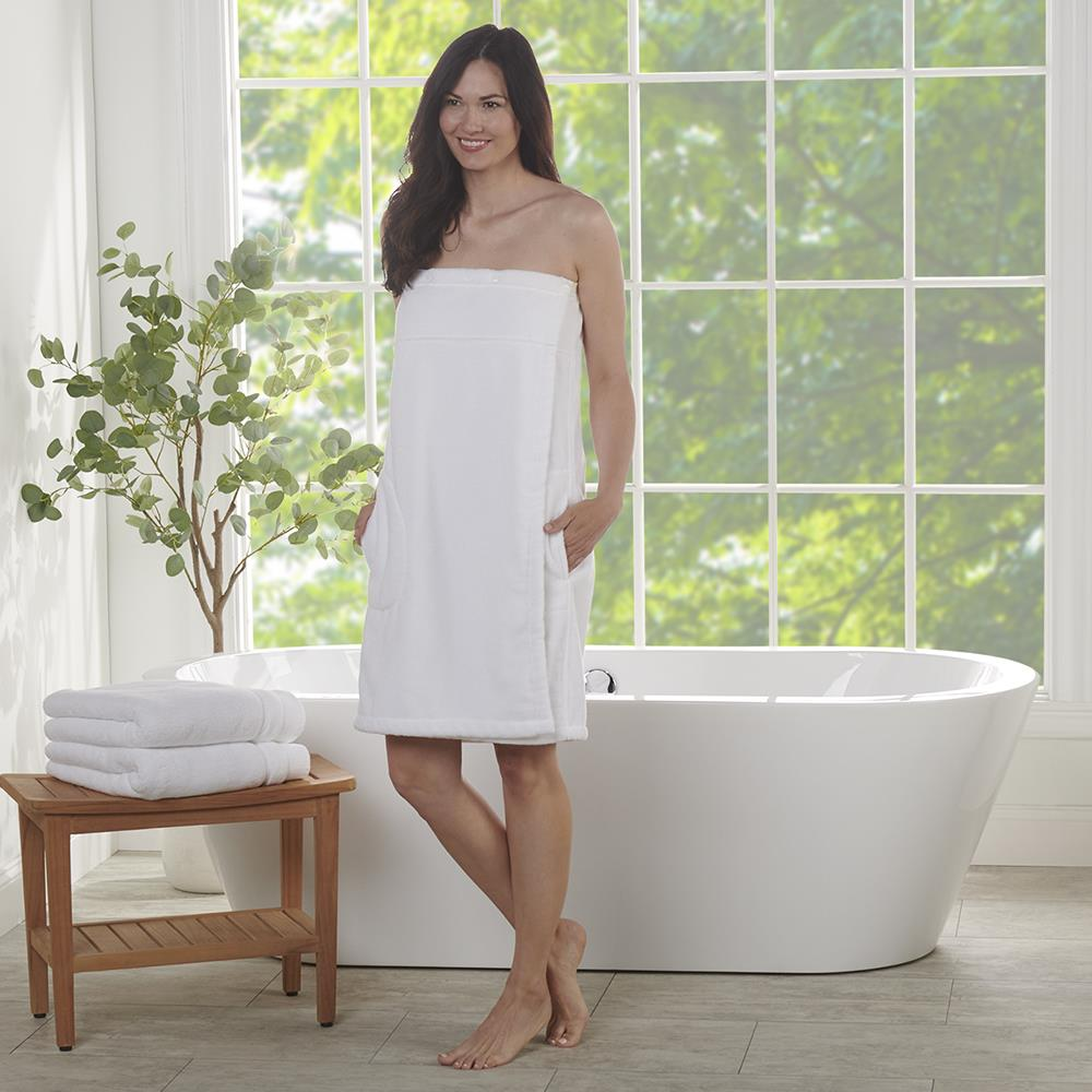 The Genuine Turkish Shower Wrap Women 39 S Hammacher