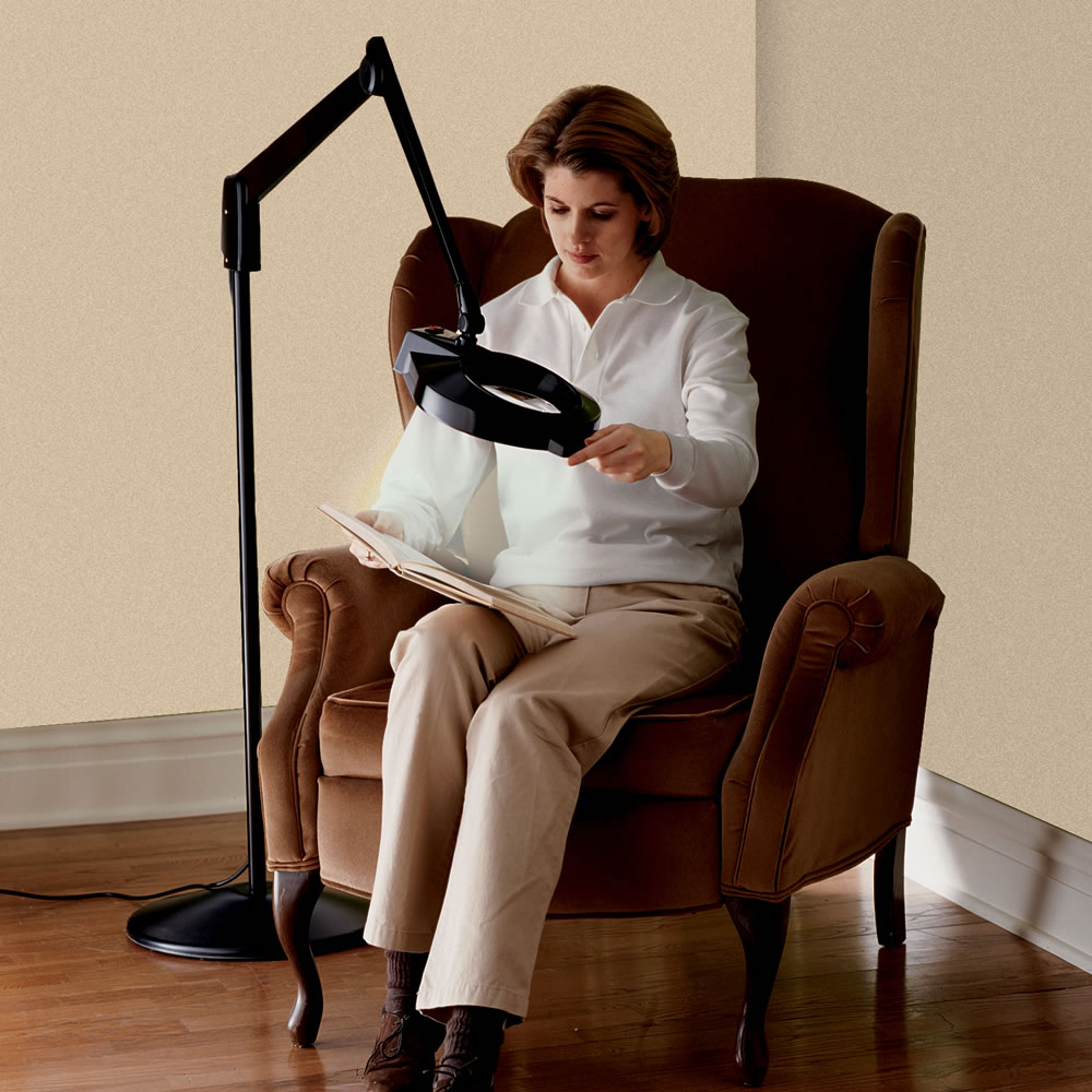 The Professional\'s Floor Standing Magnifier Lamp - Hammacher Schlemmer