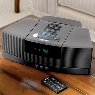 The Bose Wave Clock Radio/CD Player with Pedestal.