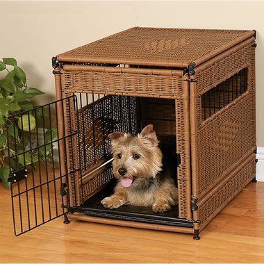 The Durable Woven Resin Kennel and Crate Large.