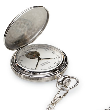 The Classic Stainless Steel Pocket Watch.