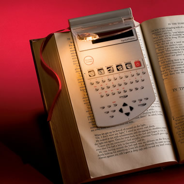 The Bookmark Dictionary and Reading Light.