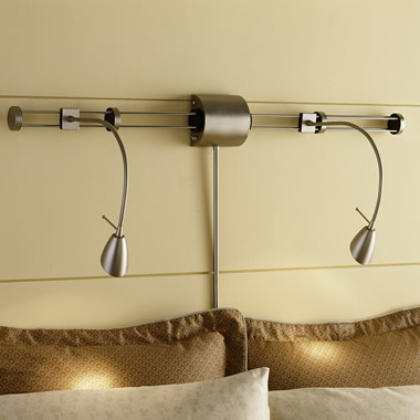 The Antique Brass Finish Bedtime Dual Flex Lamp.