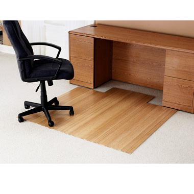 The Bamboo Office Chair Mat.