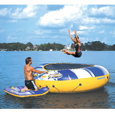 The 12 Foot Water Trampoline.