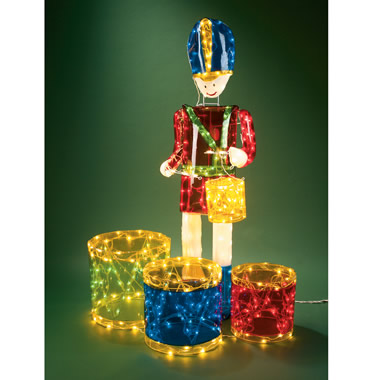 The Commercial Animated Drummer Boy Display.