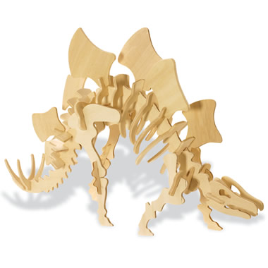The Baltic Birch 3D Dinosaur Puzzles-Stegosaurus.