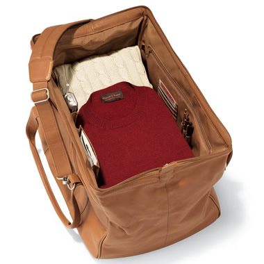 The Widemouth Leather Weekend Carryon Bag