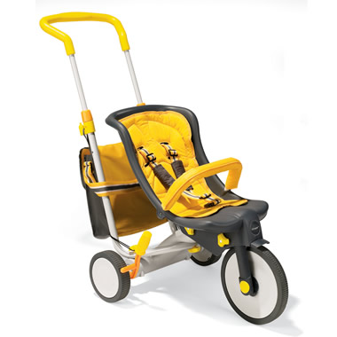 The 3-In-1 Stroller/Pushcycle/Tricycle.