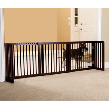 The Extra-Wide Free-Standing Pet Gate.