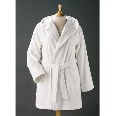 The Bamboo-Cotton Hooded Spa Robe.