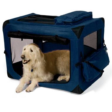 The Fold-Flat Lightweight Portable Pet Crate Medium.