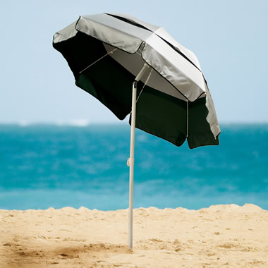 The 99% UV Protection Beach Umbrella.