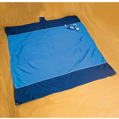 The 49' Sq. Beach Blanket With Built-In Bag.