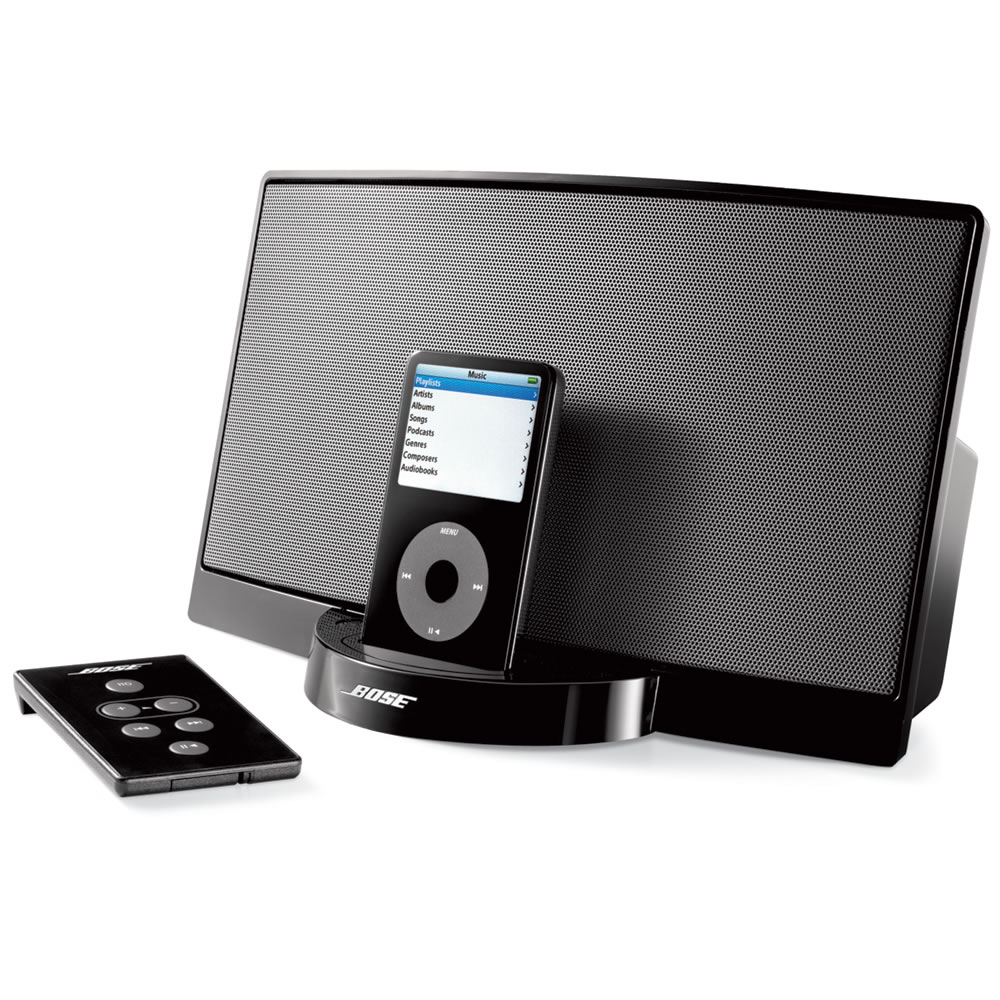 the bose sounddock digital music system for ipod hammacher schlemmer. Black Bedroom Furniture Sets. Home Design Ideas