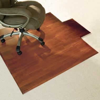 The Hardwood Office Chair Mat Hammacher Schlemmer