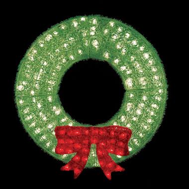 The 3-Foot Illuminated Crystalline Wreath.