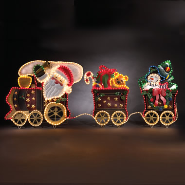 The 6 1/2-Foot Santa's Day And Night Illuminated Train.