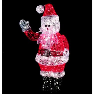 The 4-Foot Illuminated Waving Crystalline Santa.
