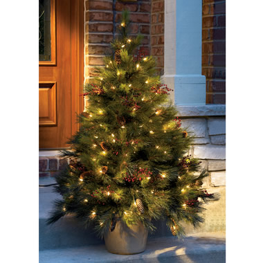 The 4 1/2-Foot Lighted Tree With Stake.