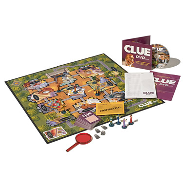 The Classic Clue Boardgame With DVD.