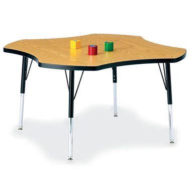 The Authentic Adjustable Height Classroom Table with Chairs.