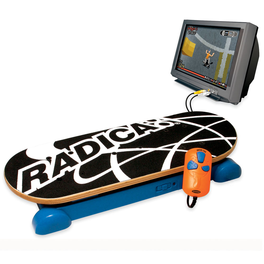 Tv Games Plug Into : The plug and play skateboard game hammacher schlemmer