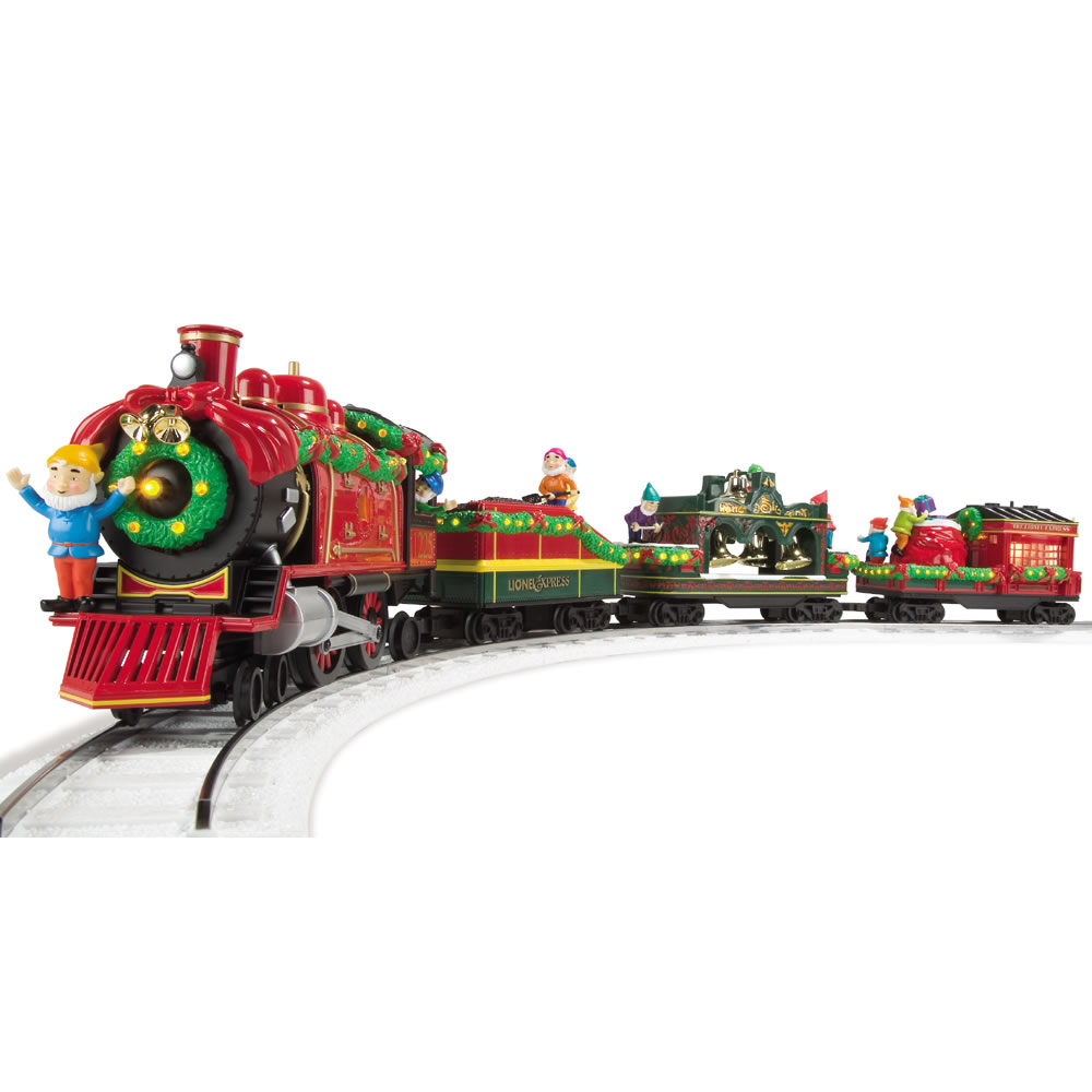 Christmas Toys Trains : The classic lionel holiday train set hammacher schlemmer