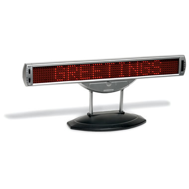 The 37-Inch Electronic Message Board.
