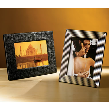 The Backlit Picture Frame (Black Leather).