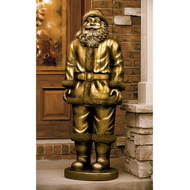 The 4 1/2-Foot Santa Statue.