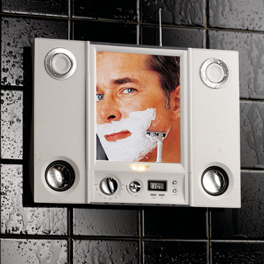 The Any Audio Shower Mirror.