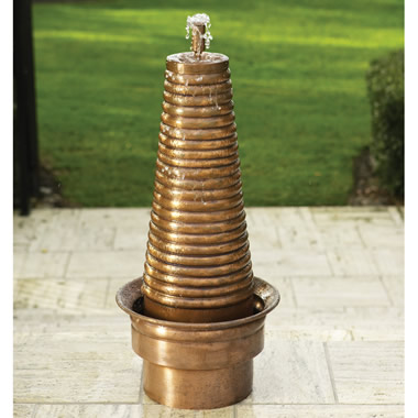 The Cascading Turkish Copper Garden Fountain.