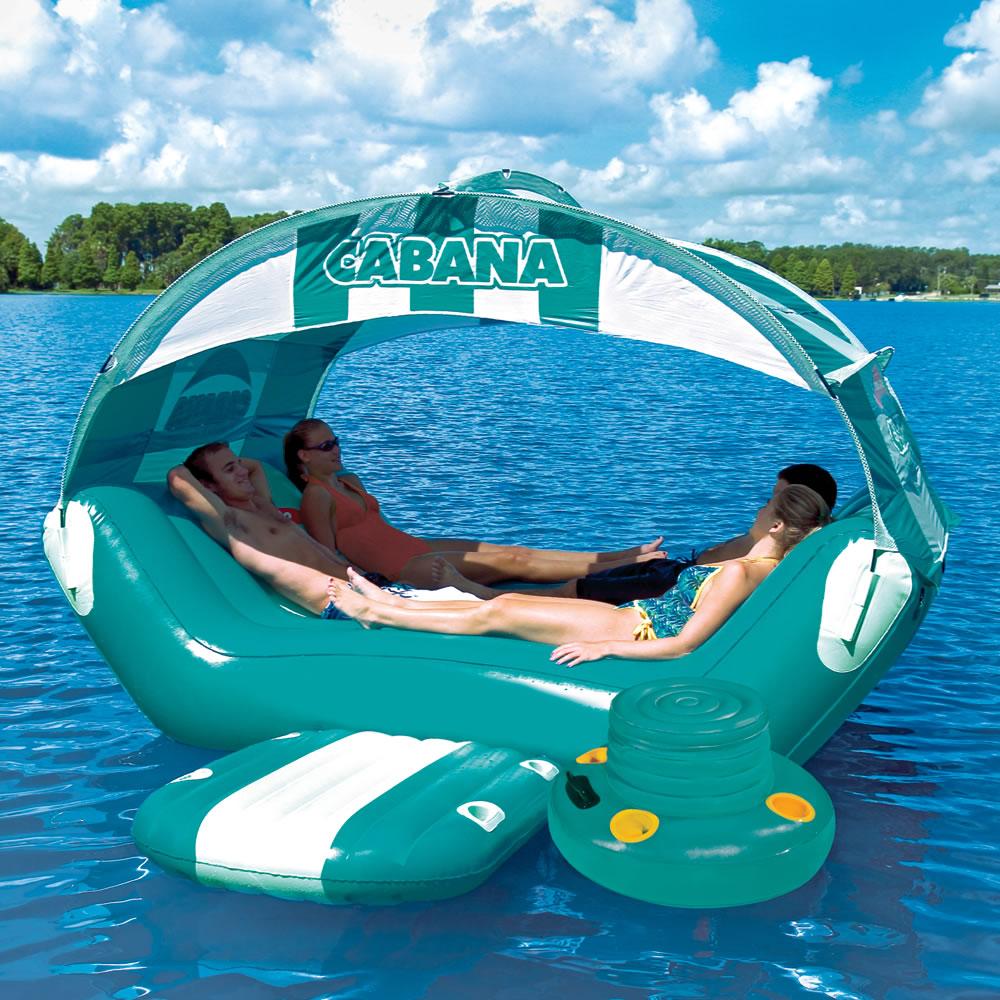& The Floating Cabana - Hammacher Schlemmer