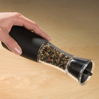 The Automatic One-Handed Pepper Mill.