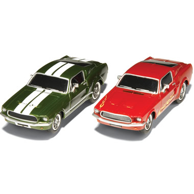 The 1967 Mustang Slot-Cars.