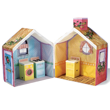 The Fabric Cottage And Playset.