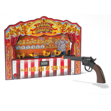 The Carnival Duck Shooting Game.