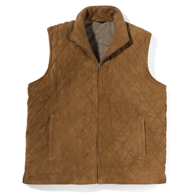The Buttersoft Goat Suede Quilted Vest.