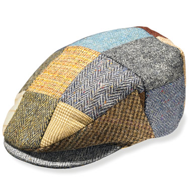 The Classic Donegal Tweed Patchwork Cap.