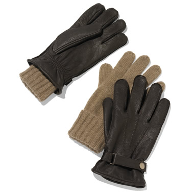 The Adirondack Deerskin And Cashmere Gloves.