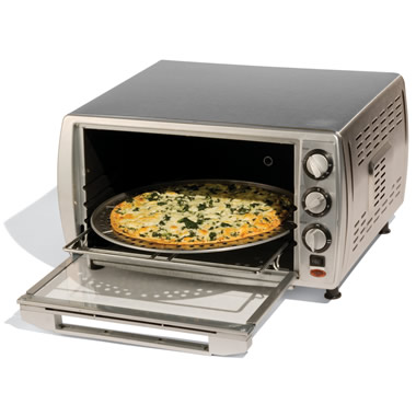 The Countertop Convection Oven With Pizza Carousel.