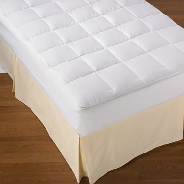The 550 Fill Power White Down Mattress Overlay King.
